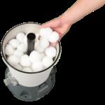 Kulki filtracyjne zamiast piasku krystalizujące wodę i oczyszczające z organizmów wielokomórkowych jak glony